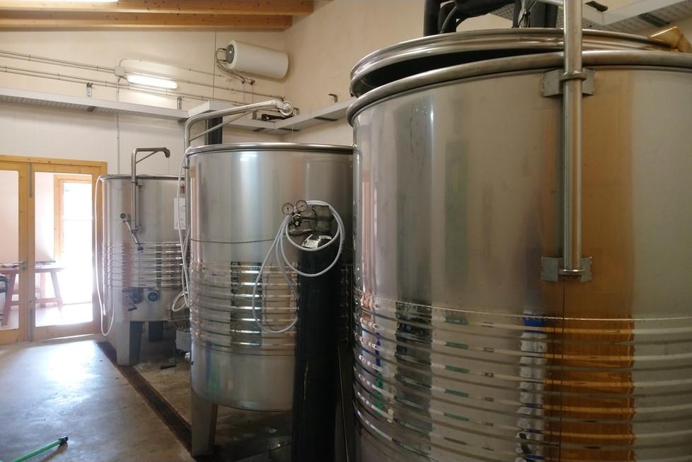 Son Simo Vell fermentation tanks
