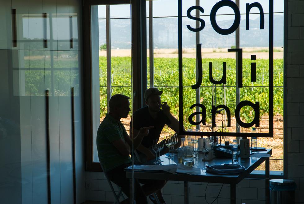 Bodega Son Juliana, tasting wines