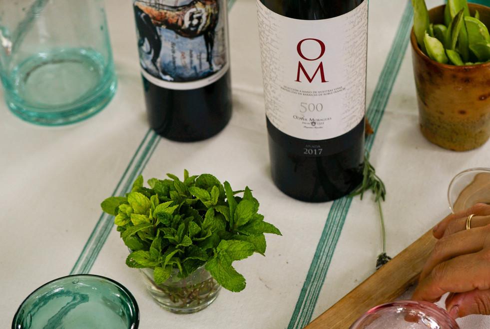 Tasting wines at Oliver Moragues