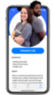 App Schedling With Real Personal Trainers
