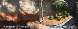 Homes after foundation repair jobs by a competitor versus Oklahoma Foundation Solutions