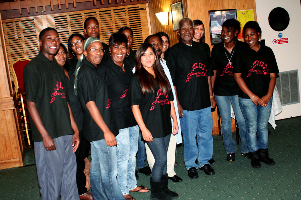 Celebration with our founder the late Cyprian 'Cy' Jean-Jacques - RIP (Sept '37 - Aug '10)