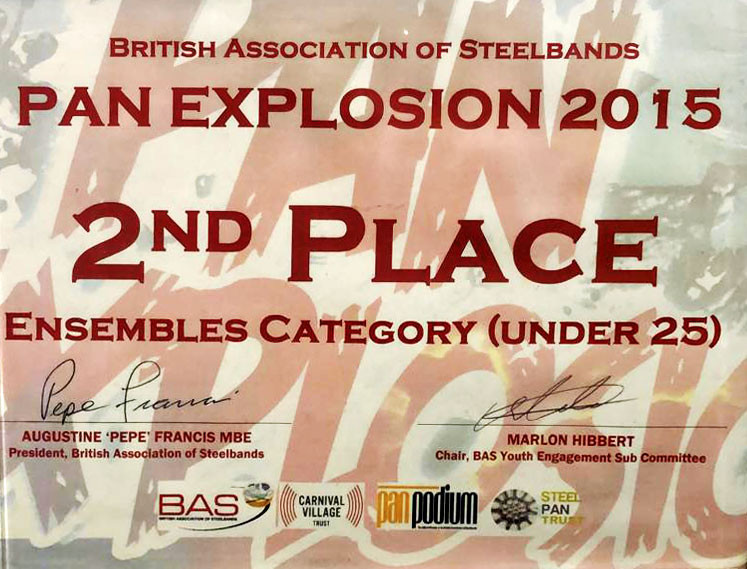 Pan Explosion 2015 - 2nd Place Ensembles Competition @ The Tabernacle, London