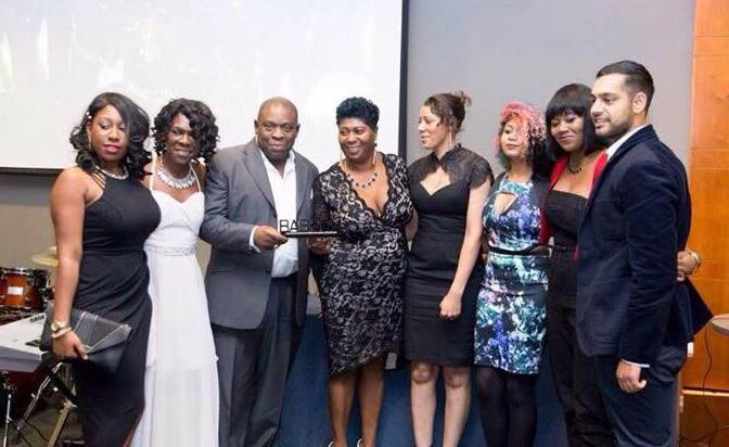 Contrast receiving award at BAS Awards with Everysley Mills, Vice-chairman of the BAS