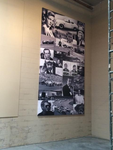 Inside wall display
