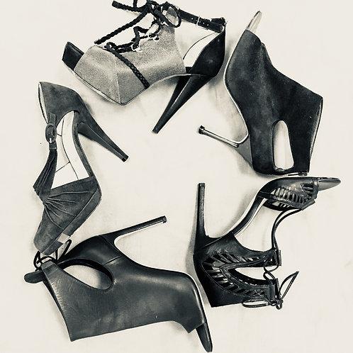 Lou Boutin, Vince, Manolo Blahnik, Dolce Vita shoes