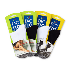 עיצוב ומיתוג לוגו ואריזות גרביים לטיולים וחולי סכרת - חברת דקר מותג TACTIC