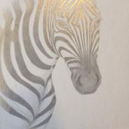 Zebra. Silverpoint on Board