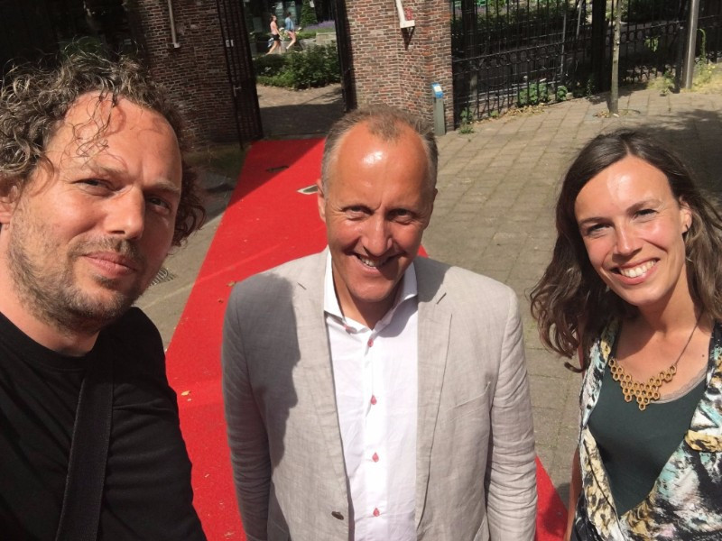 Jim Walker with Emiel Arends Advisor Urban Affairs and José Besselink Urban Planner – City Development Rotterdam