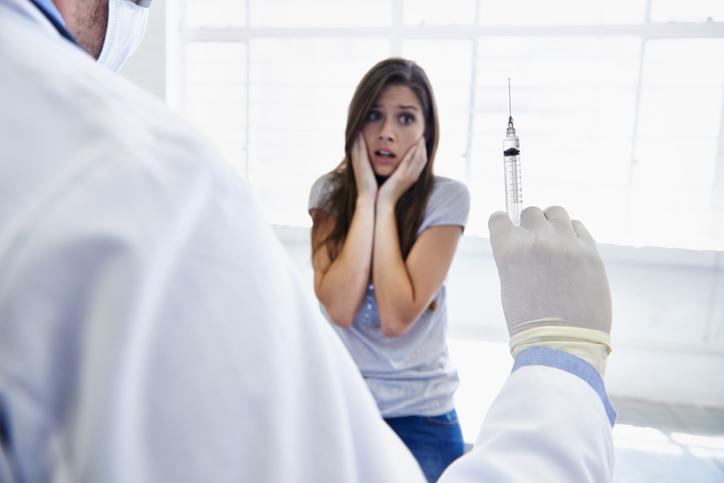 Medo de agulhas no laboratório