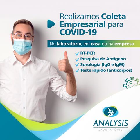 Coleta Empresarial para COVID-19 com Preços Competitivos: no Laboratório, em Casa ou na sua Empresa!
