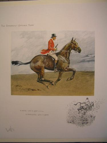 _The Sparrow-Catching Sport_ by SNAFFLES  Signed Artist's Proof 18 x 17 inches £975