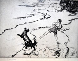 """Fetch It"" by Edmound Blampied"