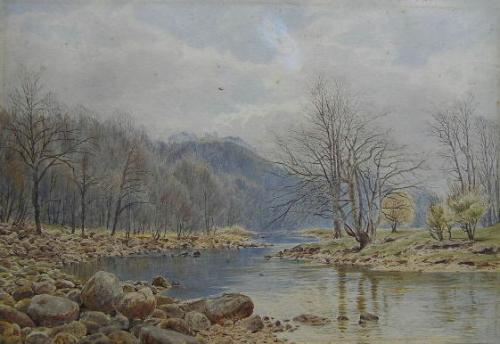 """""""A Pair of Landscapes of the River Wharfe"""""""