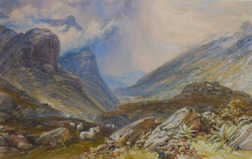 """Glen Coe, from the Eastern Pass"""