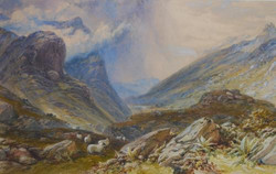 """""""Glen Coe, from the Eastern Pass"""""""