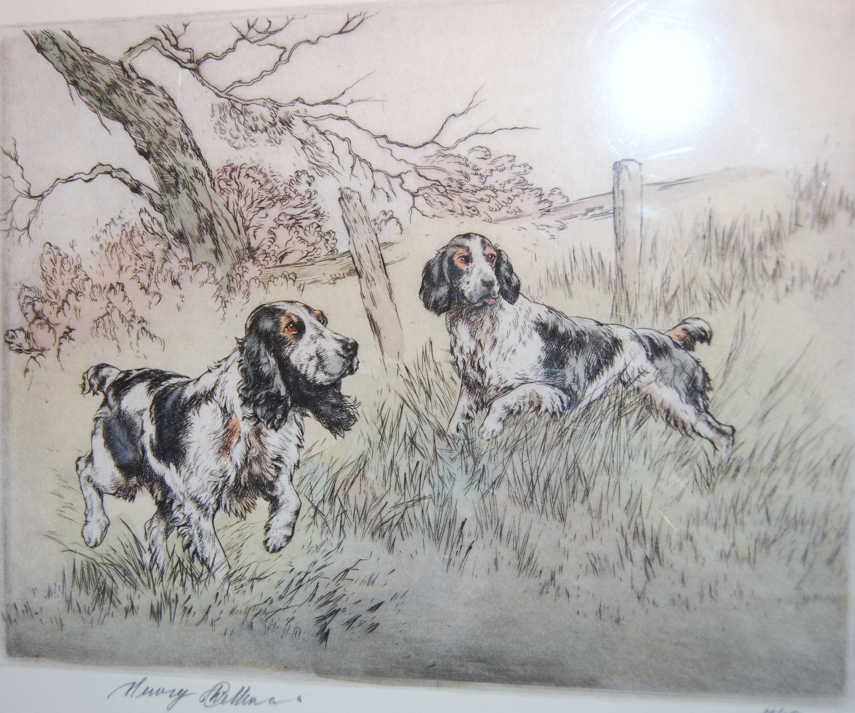 SpanielsHenryWilkinsonsignedprint10x15inches£110