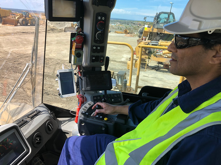 Working in Truck using Mining Fleet Mana