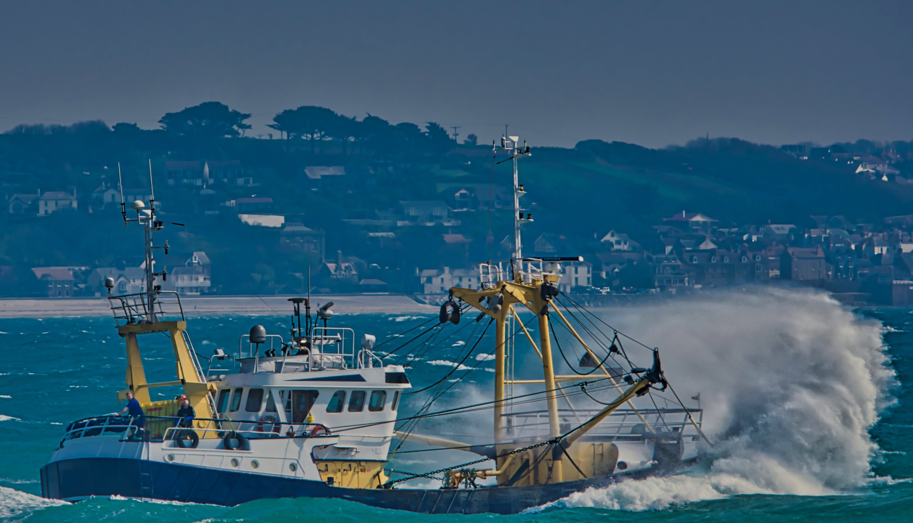 Fishing Vessel out at Sea with a Vessel Monitoring System VMS