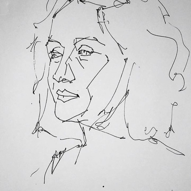 Self Portrait (Line Sketch)