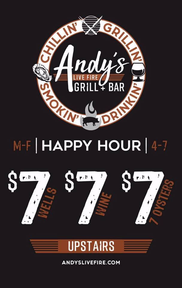 Andy's Live Fire Grill & Bar Happy Hour Specials