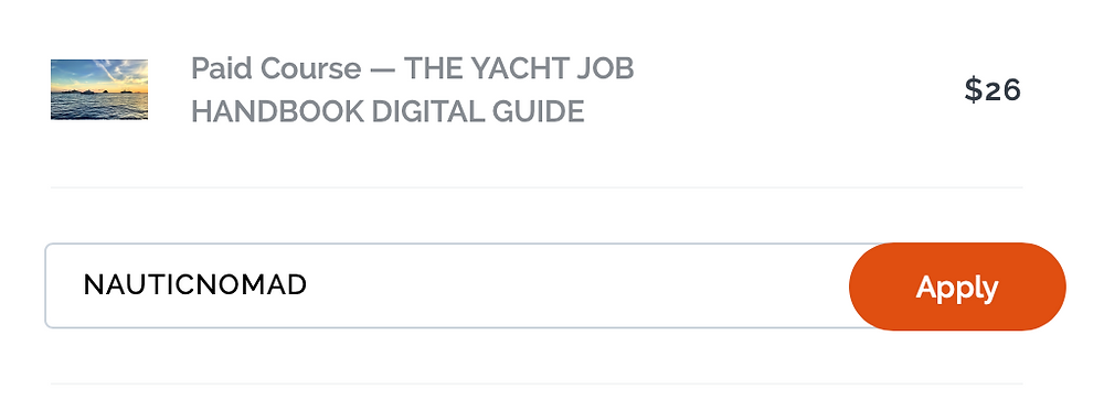 How to get a job on a yacht