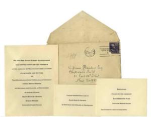 JFK & Jackie Bouvier Wedding Invitation