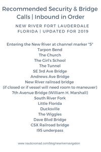 Securite & Bridge Calls for the New River Fort Lauderdale