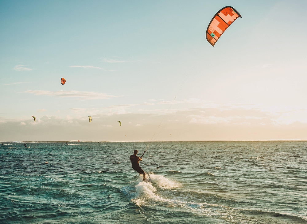 Kite Surf with 40 Knot