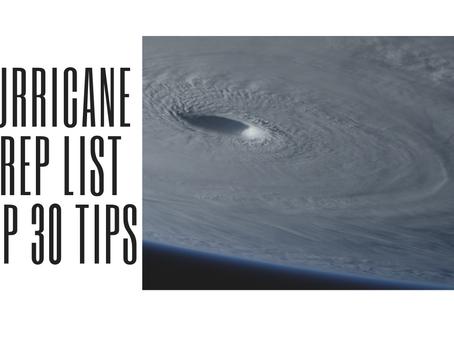 A Thorough Hurricane Prep Checklist