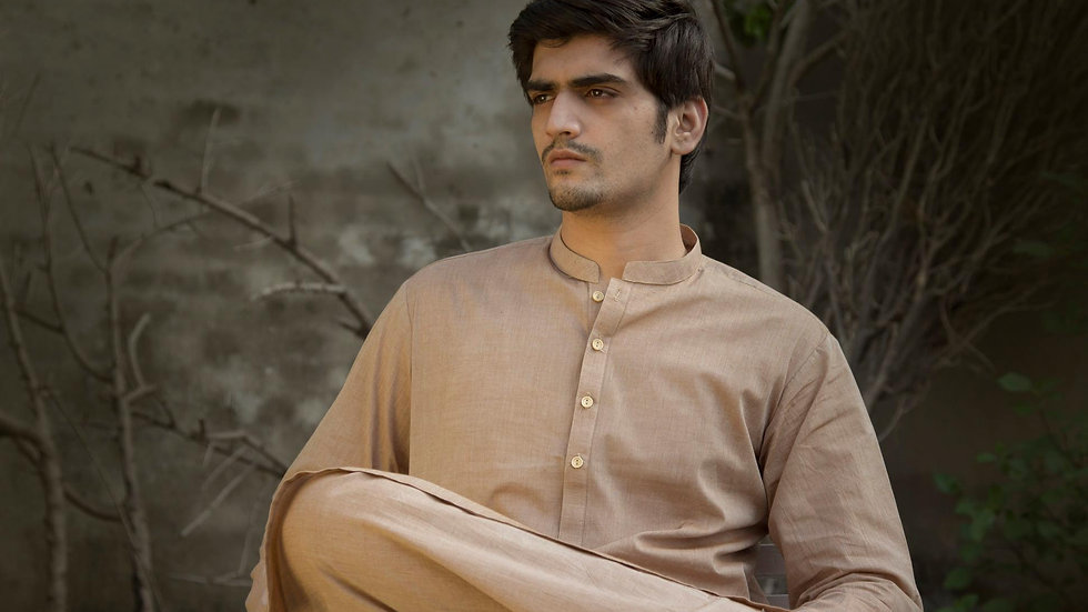 Shalwar Kameez Light Brown for Men