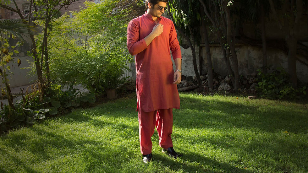 Shalwar Kameez Subtle Pink for Men
