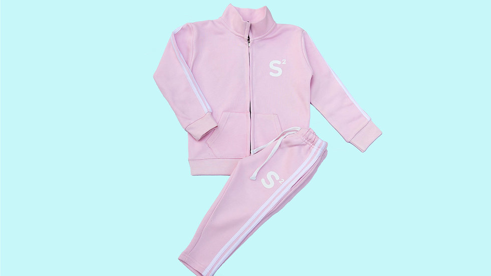 Pink Kids Tracksuit