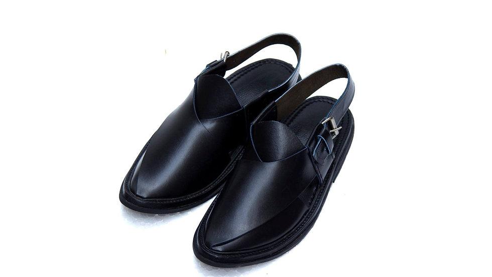 Black Peshawri Shoe Chappal