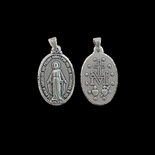 Medalha N. Sra. das Graças oval 3 cm P.V.