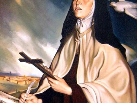 Santa Teresa D'Ávila e o poder da água benta