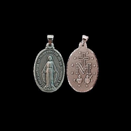 Medalha N. Sra. das Graças oval 3,5 cm P.V.