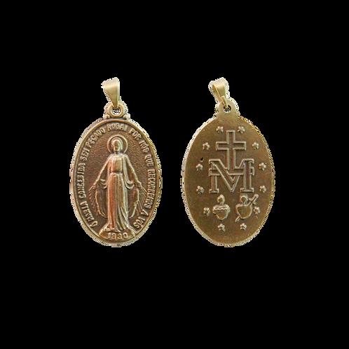 Medalha N. Sra. das Graças oval 3,5 cm N.I.