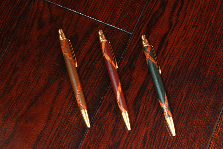 木と漆のペン