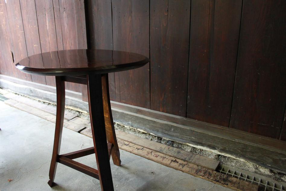 ワイン樽テーブル