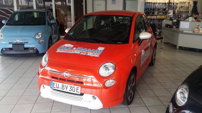 Fiat 500e Orange