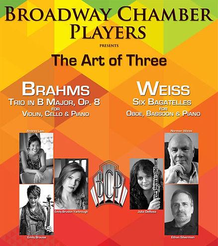 Broadway Chamber Players, The Art of Three