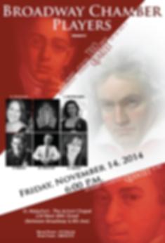 Broadway Chamber Players Presents Trio, Quartet, Quintet