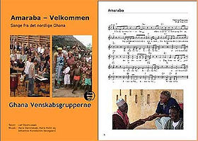 Nodehæfte med Ghana-sange