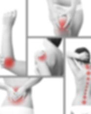Pain in knee, elbow, shoulder, lower back, neck, hip