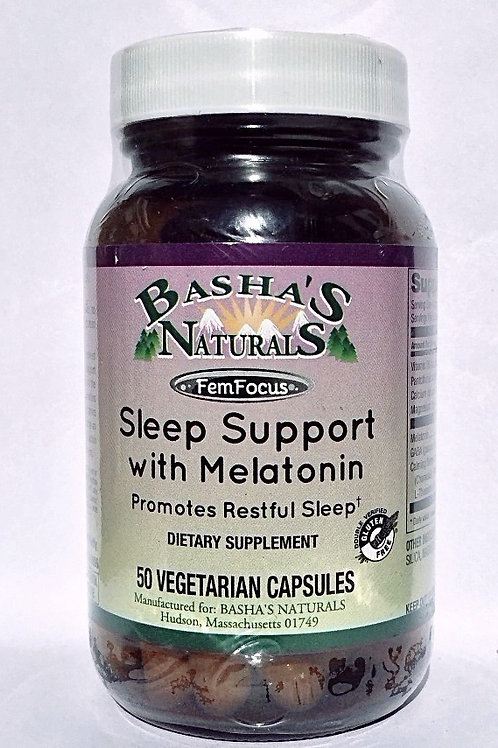 Sleep Support with Melatonin from Basha's Natuals