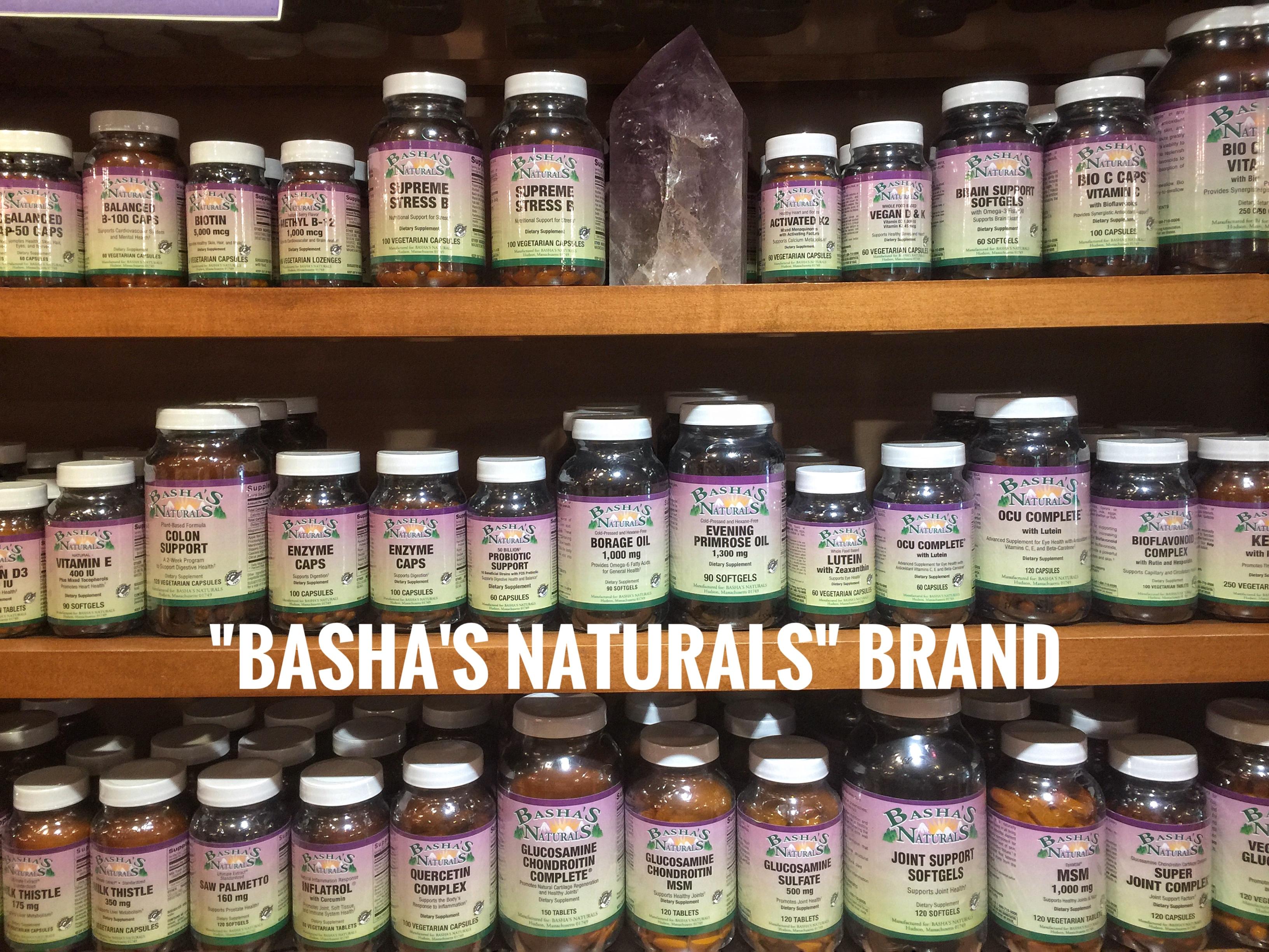"""Basha's Naturals"" brand"