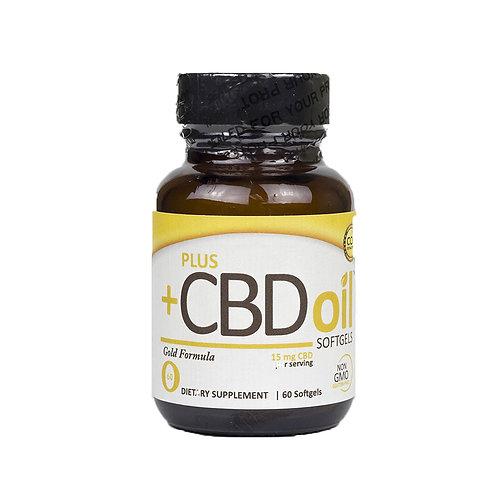Plus CBD Oil Gold bottle