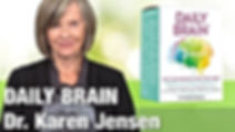 photo of Dr. Karen Jensen and Daily Brain supplements