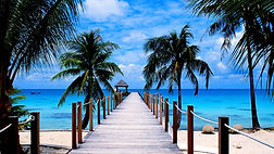 Tropical wharf
